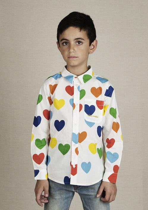 Camisa Mini Rodini Rainbow Love