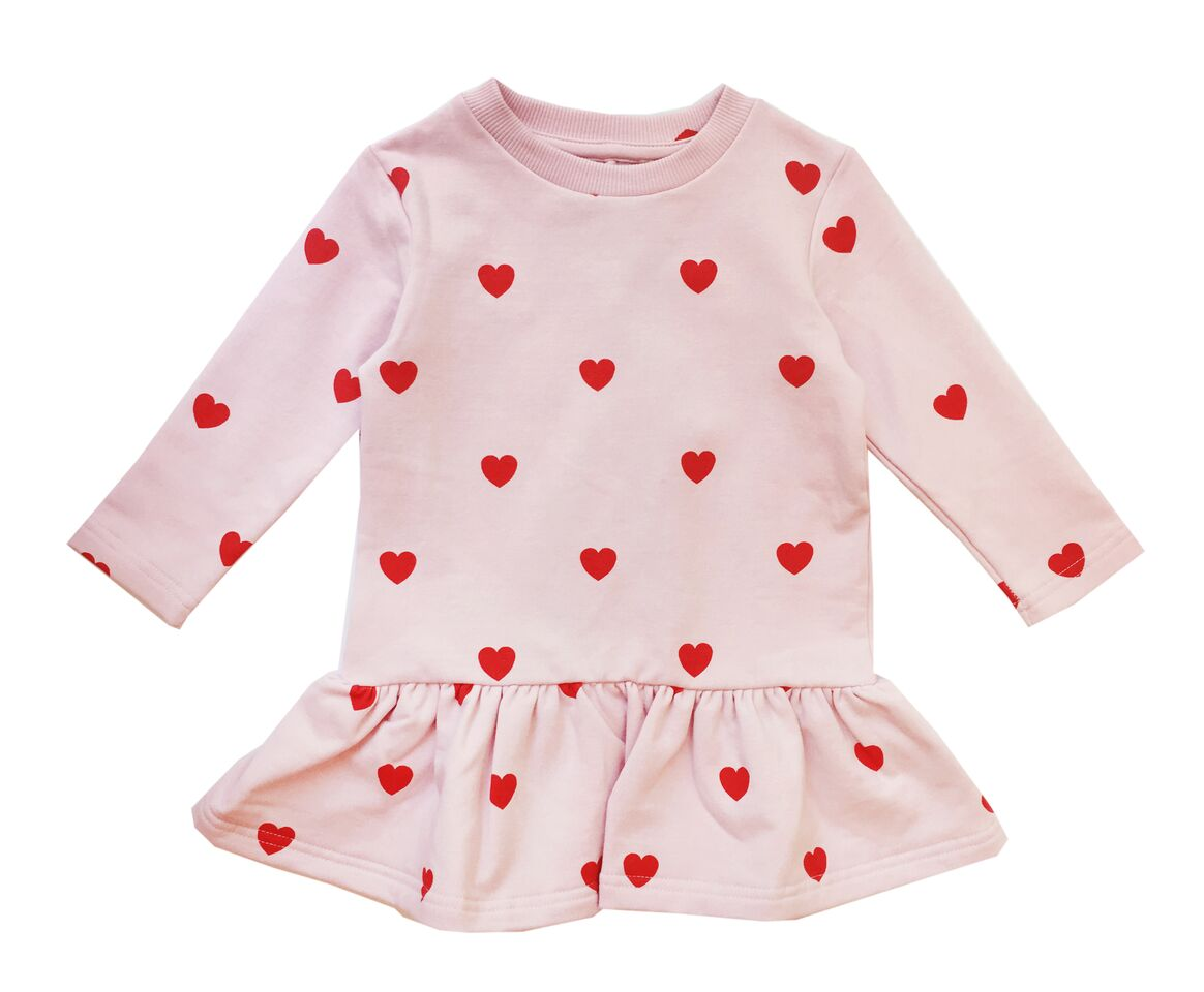 Vestido Hugo Loves Tiki Hearts Rosa