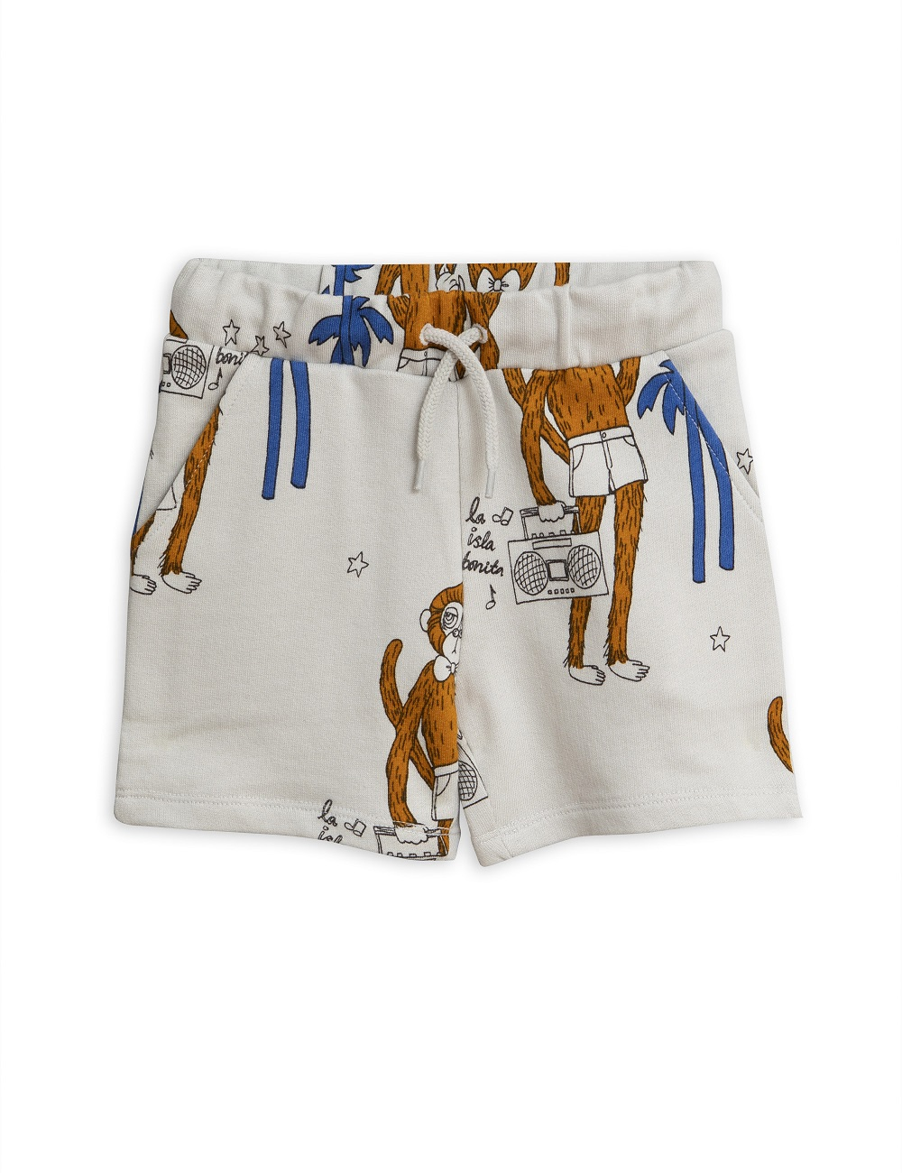 Short Mini Rodini Cool Monkey Gris