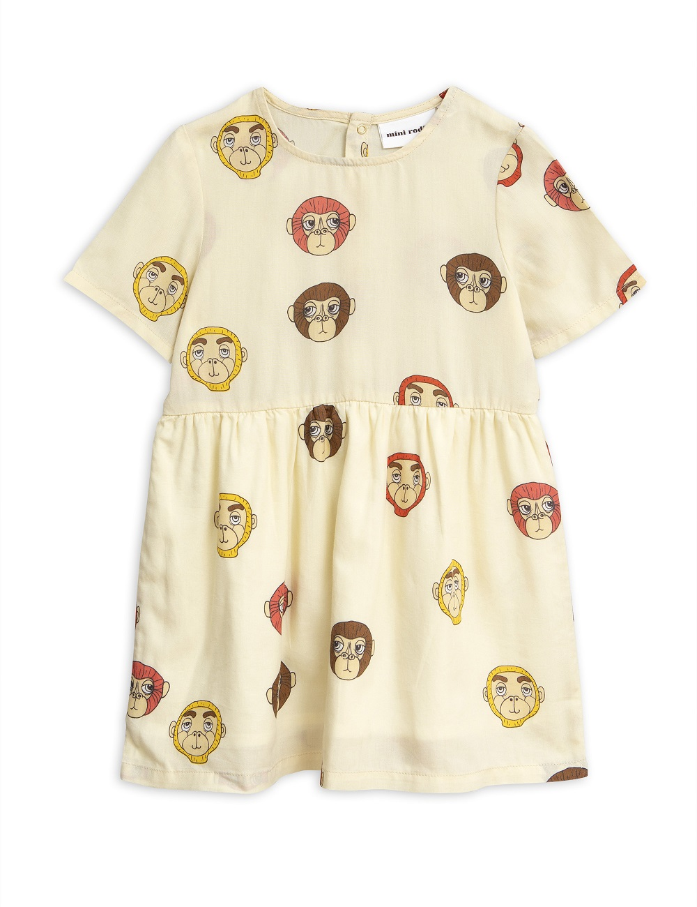 Vestido Mini Rodini Monkeys Off White