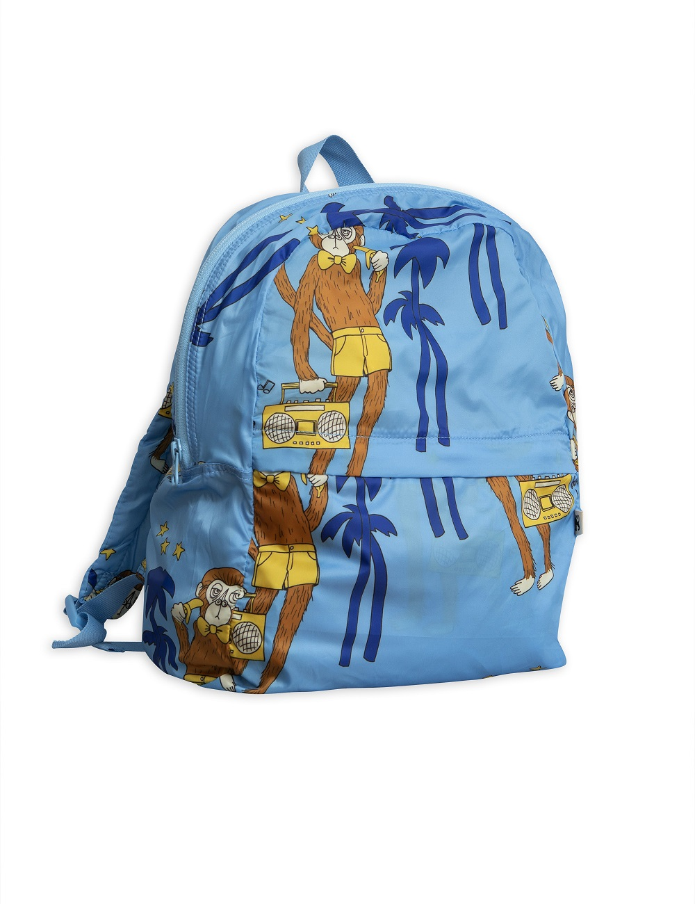 Mochila Mini Rodini Cool Monkeys Celeste