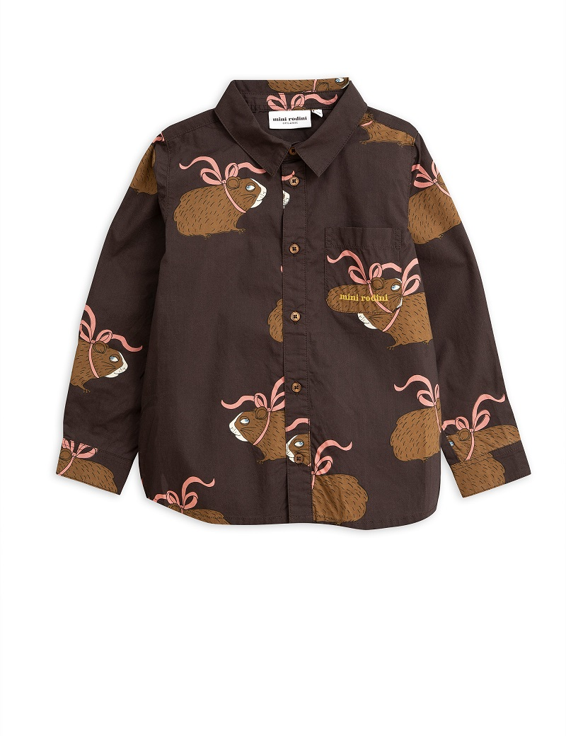 Camisa Mini Rodini Posh Guinea Brown